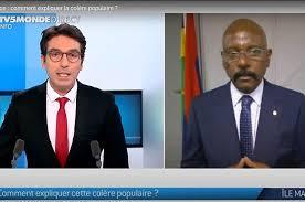 « TV5 Monde a utilisé des images d'archive pour évoquer la marche du 13 février lors de l'intervention de Joe Lesjongard »…